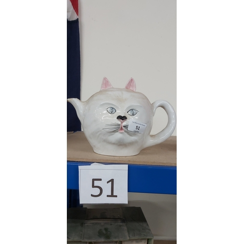 51 - Cat teapot