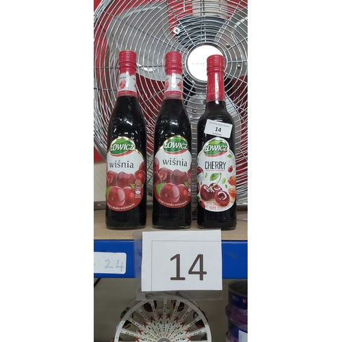 14 - 3 bottles of cherry syrup