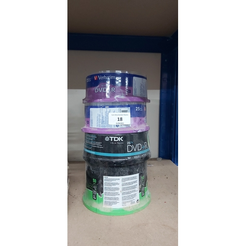 18 - 4 CDs and DVDS RECORDABLE DISC