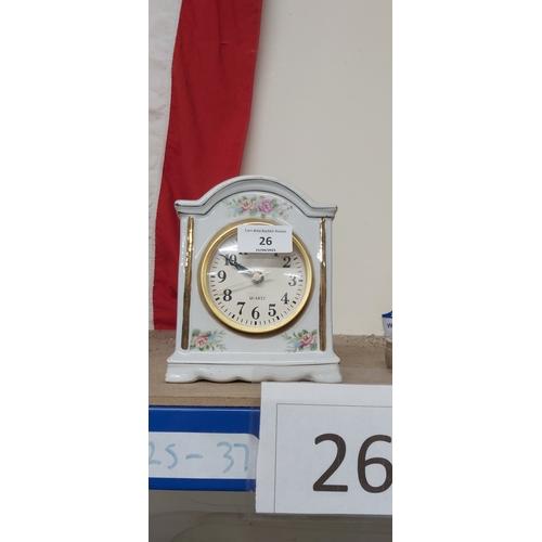 26 - Clock ornament...