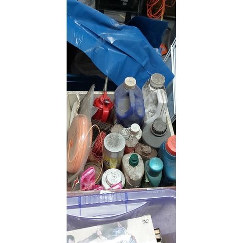460 - Drawer of oils etc...