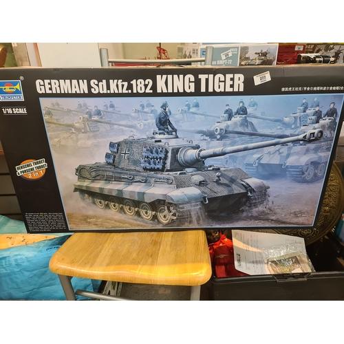 277 - Trumpeter 00910 German King Tiger Tank 1/16 Scale Plastic Kit