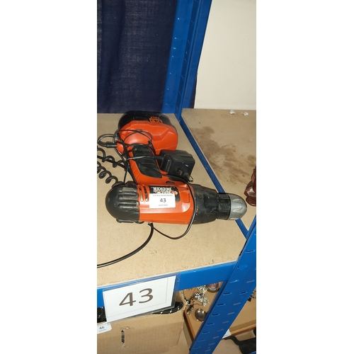43 - battery drill & charger gwo...