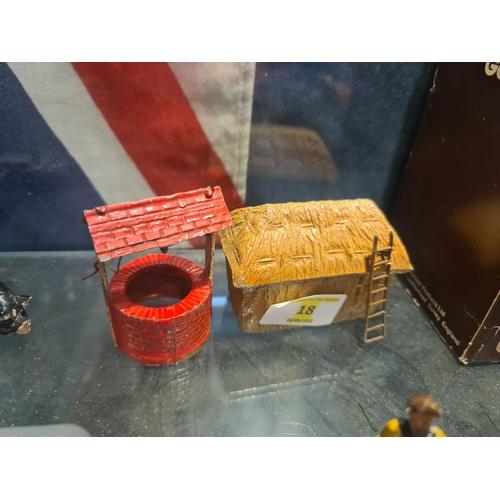 18 - Britains etc lead farm accessories