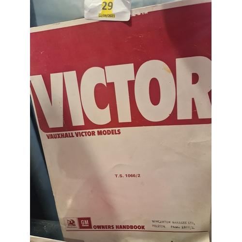29 - 1972 Vauxhall Victor hand book