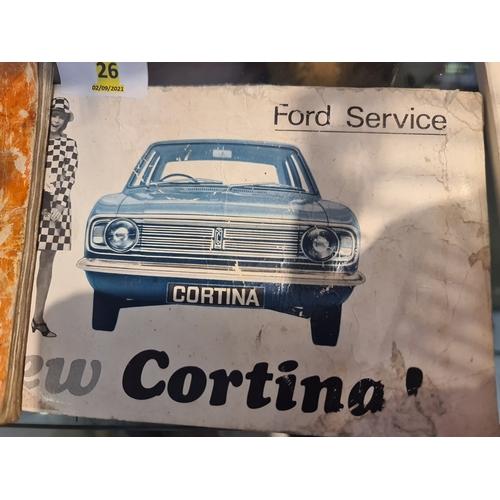 26 - Ford Cortina Service Original Genuine Mk2 Literature Book Britain 1966 unused