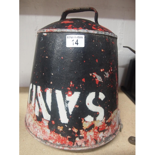 14 - Original fire sand bucket...