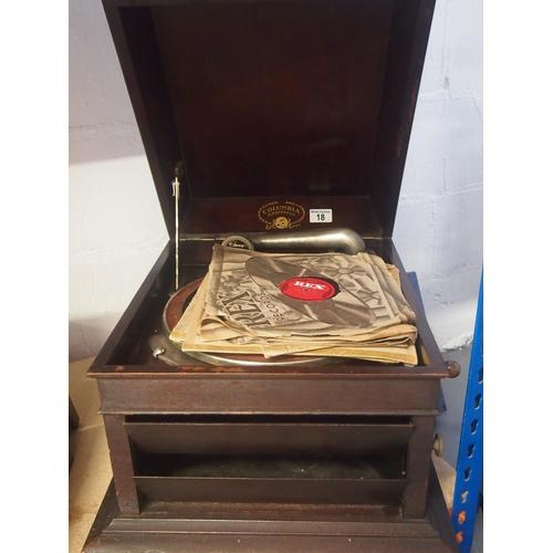 18 - Antique Columbia grafonola gramophone...