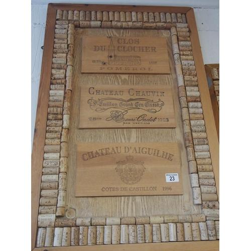 23 - Display of wine corks and vineyard plaque...