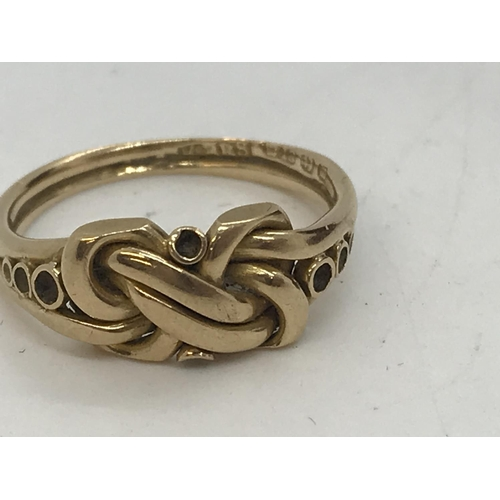 101 - Antique 18ct yellow gold ring in an art nouveau style, hallmarked Birmingham, approx. weight 3.6g an...