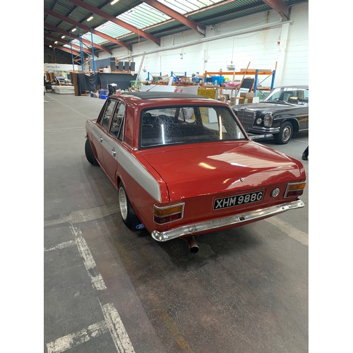 5 - FORD CORTINA MARK II, SUPER 1600, 1968, manual, 4 door saloon. showing 60,000 miles, Red with dark s...