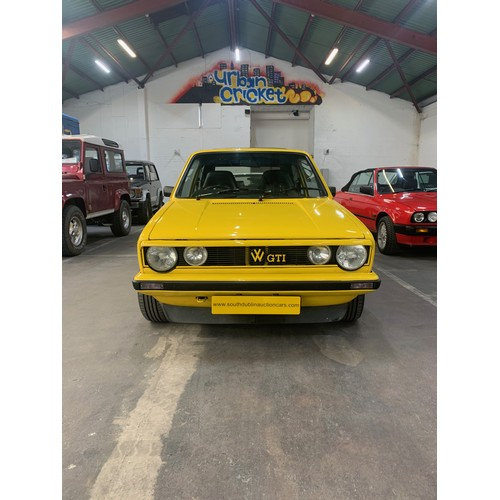 15 - VW Golf Mark 1, 1982, 1.8L, 160k miles. Yellow with black Recaro interior. STUNNING in as new condit...