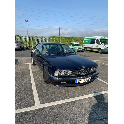 21 - BMW635CSI, 1987, ONLY 85k miles, NAVY WITH CREAM LEATHER INTERIOR. A FINE EXAMPLE OF THIS VERY COLLE...