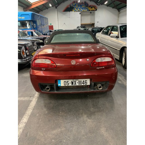 25 - MG TF Spark, 2005, Convertible, Manual, with only 2 owners and 92k miles. Red two tone part leather ...