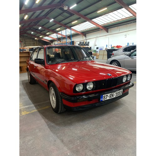 26 - BMW 316 (E30), 1987, MANUAL, RED WITH BLACK AND TARTAN INTERIOR. 143K MILES. NCT 08/21, TAX TO 10/20...