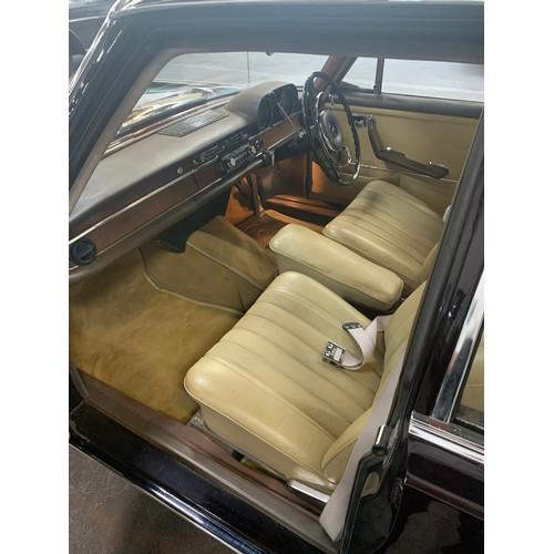 1 - Mercedes 250 S (2.5L), 1967, Auto, 4 door saloon, showing 60,000 miles, dark burgundy with light bei...