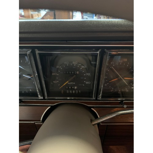 3 - LINCOLN TOWNCAR 1988, 5 LITRE MONSTER, showing 11,560 miles. White with beige leather interior. Taxe...