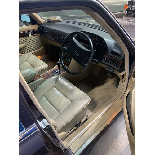 5 - MERCEDES 300SE , 1992, (LAST YEAR OF THE W126 MODEL), 174K MILES, BORNITE WITH CREAM LEATHER INTERIO...
