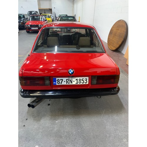 6 - BMW 316 (E30), 1987, MANUAL, RED WITH BLACK AND TARTAN INTERIOR. 143K MILES. NCT 08/21, TAX TO 10/21...