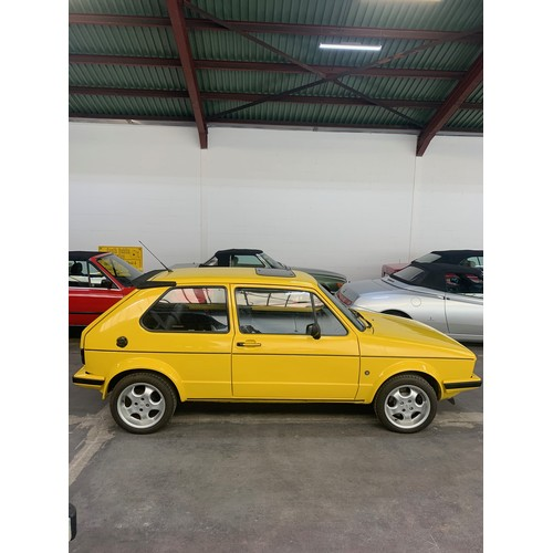 12 - VW Golf Mark 1, 1982, 1.8L. Yellow with black Recaro interior. Totally re-bulit from the ground up. ...