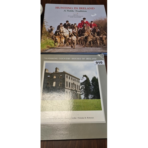 10 - Two books, Vanishing country houses in Ireland and Hunting In Ireland....
