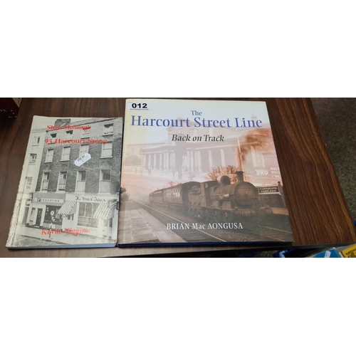 12 - 2 books, The Harcourt Street Line and 95 Harcourt Street...