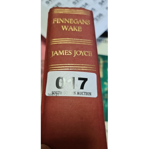 17 - Finnegans Wake by James Joyce. By Faber and Faber. Early edition....