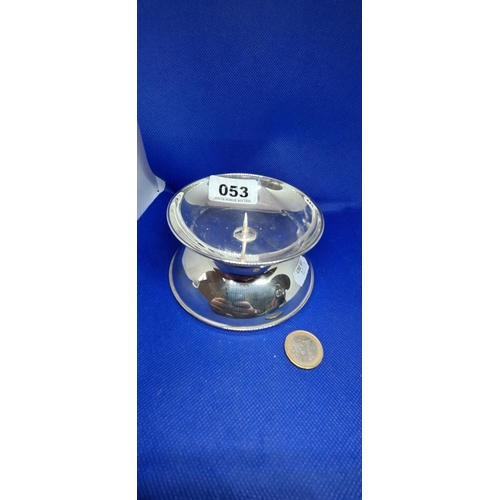 53 - Sterling silver deep dish large candle holder. New old stock from the jewellers. Retail on this was ...
