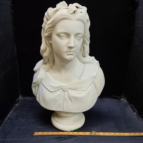 49 - White marble bust by William Calder Marshall. RA 1813-1894 Scottish Sculptor. Super quality marble b...
