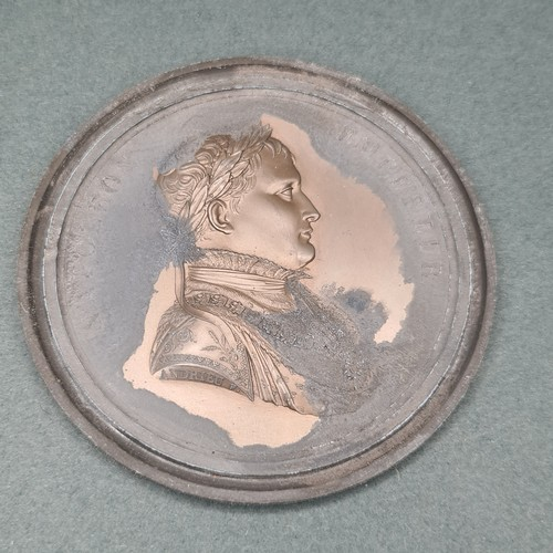 22 - 9 Bronze coins celebrating the life of Napoleon. From his birth, to great battles to his loves. Heav...