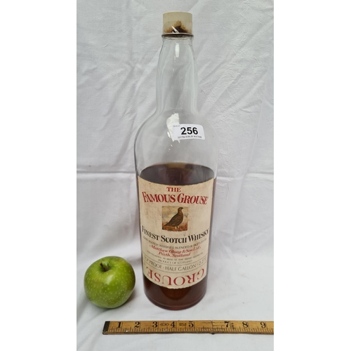256 - Famous Grouse Blended Scotch Whiskey (65%). One 2.27L bottle/or half a gallon.