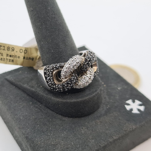 21 - Large New ti-sento Sterling Silver ring original price tag for 189 euros.