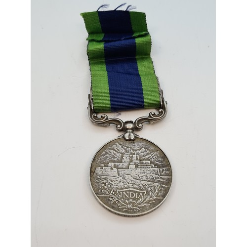 43 - 1919 Sterling Silver Medal for Afghanistan N.W.F to 246 Balli Singh, Mule Corps. George the 5th In P...