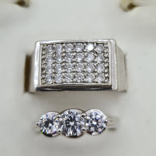 20 - 32 Beautiful Silver rings. All 925 Sterling and lots of large stone Examples. The vendor wishes to k...