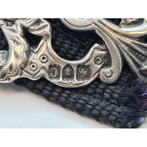31 - Another Fabulous Sterling Silver Belt Buckle of Angels Closing the gates to heaven with London 1901 ...