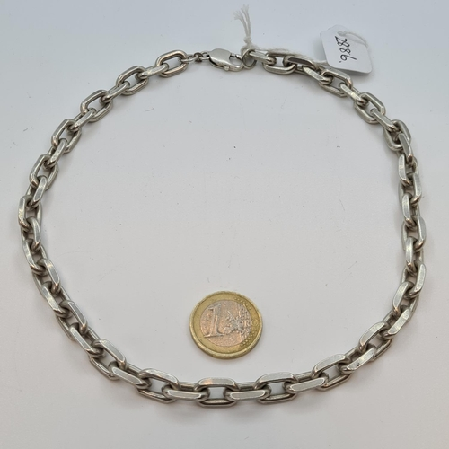 27 - Very heavy gents sterling silver chain 86 g.