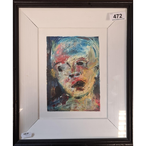 472 - Original Irish Oil painting in a quality boxed framed enticed Cry By Brian B (Hard to read the full ...