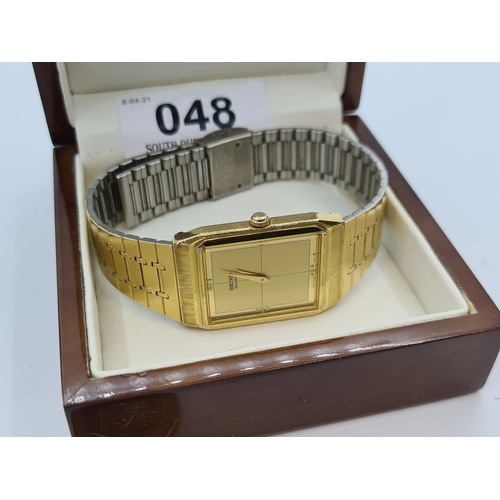 48 - Vintage gents Seiko watch in very good condition.