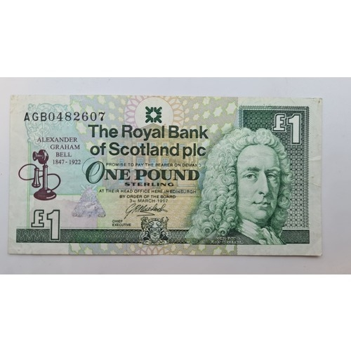 10 - Eight Scottish bank notes including uncirculated examples and a rare Alexander Graham Bell edition.