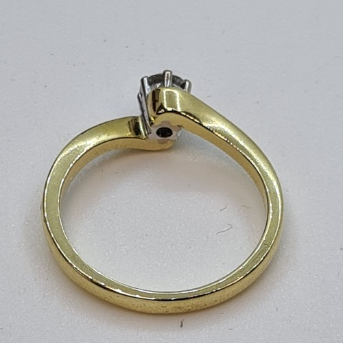 5 - Brand New 18ct Yellow Gold Diamond Solitaire Ring. 0.38cts Lovely bright sparkly stone. Size P