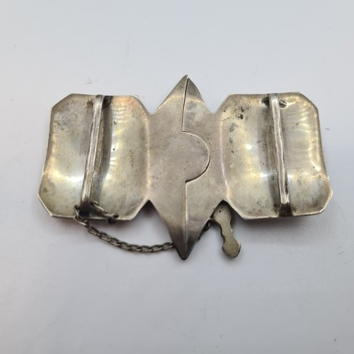 36 - Super antique Indian silver belt buckle. When you remove the dagger the buckle opens. Lovely quality...