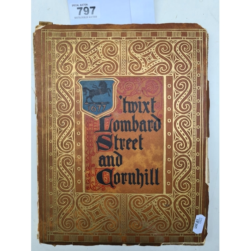 Lambard Street and Cornhill, designs and illustrated by Loyd's Bank, with rough cut pages and every page has a huge amount of work of hand painted illustrations.
