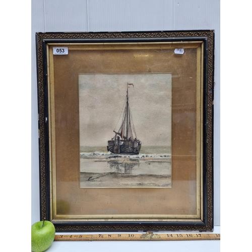 53 - Original Francois Carlebur II (Dutch 1821-1893) watercolour, signed by the artist, bottom right. Sho...