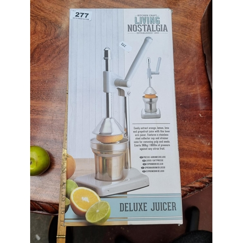 Large, Living Nostalgia by Kitchen Craft Deluxe Juicer. Brand new in box.