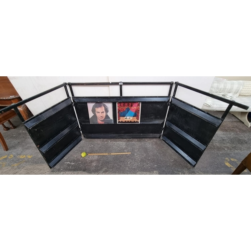 556 - A super Black 3 Piece Rack for displaying vinyl records at fairs etc. Great display piece. Can hold ...