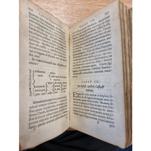 4 - Small book with Vellum cover dated 1634 ( 387 years old) Lexicon theologiv in quo Sacrosan Theologie