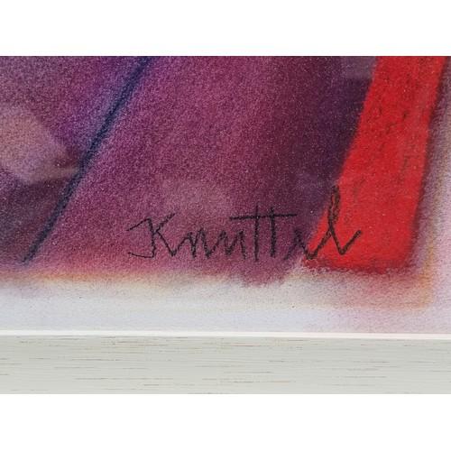 64 - Star lot: Very large original oil pastel, double portrait signed by artist Graham Knuttel (b.1954). ...