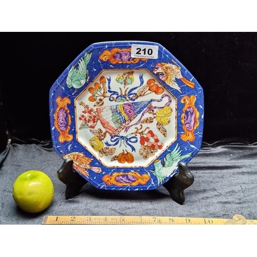 210 - A Stunning Hermes Paris Porcelain Limoges Decorative Plate 'Hermes Marqueterie de Pierres d'Orient e...