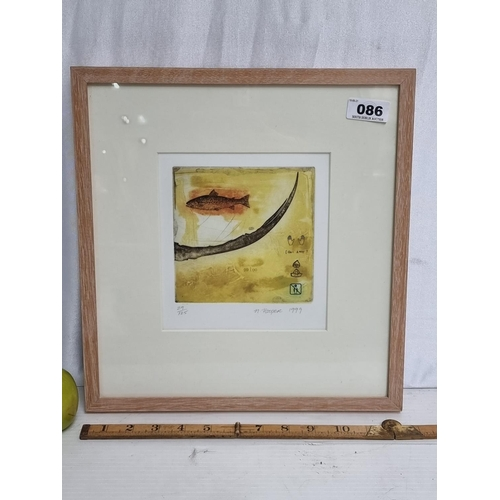 A limited edition print (29/125) of an etching with other mixed media applied, signed bottom right by the artist N.Hooper, 1999.