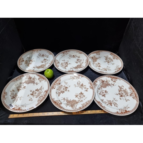 Six early  period Belleek plates. In good order.